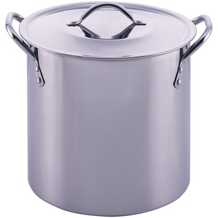 Mainstays 8 Quart Stock Pot With Lid Stainless Steel