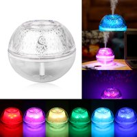 LED Ultrasonic Essential Oil Humidifier Diffuser Mist Aromatherapy Air Purifier for Any Living Space, 6 Colors LED Light & Waterless Automatic Shut-off, 500ml Large Capacity