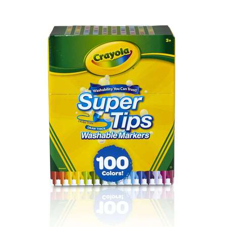 Crayola Super Tips Washable Markers, 100 Count (Disc Marker)