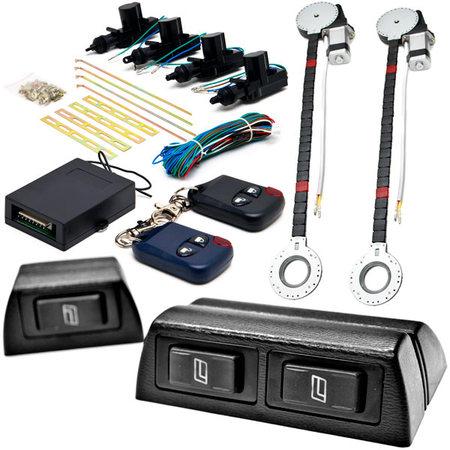 Biltek 2x Door Car Power Window + Keyless Door Unlock Kit For Chevy Camaro Van Cavalier Chevette Cobalt Kodiak