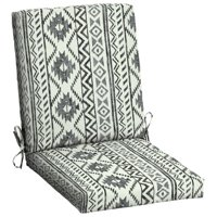 Mainstays Black and White Tribal 43 x 20 in. Outdoor Dining Chair Cushion