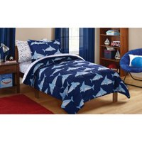 Mainstays Kids Sharks Coordinated Bed in a Bag Complete Bedding Set