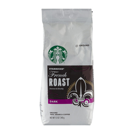 Starbucks French Roast Dark Roast Ground Coffee, 12-Ounce Bag (Hazelnut Roasted Coffee)