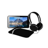 """Ematic 7"""" Quad-Core Tablet with Android 7.1 (Nougat), Headphones, and Carrying Case EGQ375BL"""