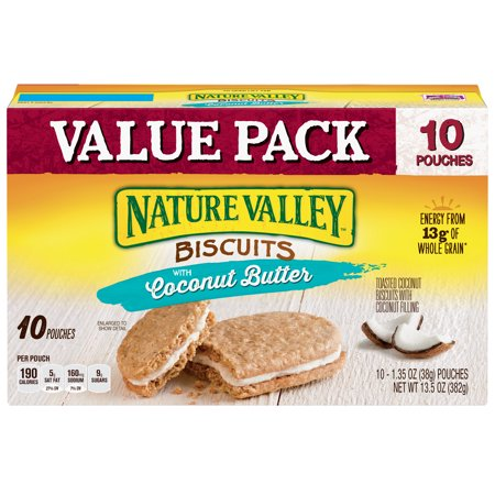 - Nature Valley Toasted Coconut Biscuits with Coconut Filling 10 Count