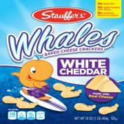 Stauffer's Whales White Cheddar Baked Cheese Crackers, 16 Oz.