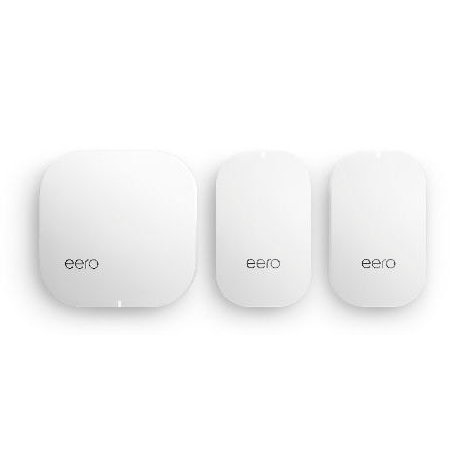 eero Home WiFi System (1 eero + 2 eero Beacon) – 2nd Generation – Advanced Tri-Band Mesh WiFi System to Replace Traditional Routers and WiFi Ranger Extenders – Coverage: 2 to 4 Bedroom Home