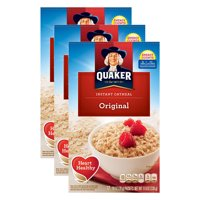 (3 Pack) Quaker Instant Oatmeal, Original, 12 Packets