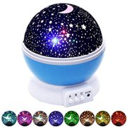 Night Lights For Kids, Multiple Colors Rotating Star Projector Night Light For Baby Boys And Girls