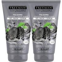 Freeman Feeling Beautiful Polishing Mask, Charcoal & Black Sugar, 6 Fl Oz