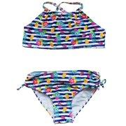 fd9326ca1f0 So Sydney Swim Girls' Two Piece High Neck Bikini Swimsuit Bathing Suit
