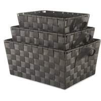 Whitmor Woven Strap Storage Baskets Set of 3, Multiple Colors