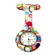 e6d3de6b9ba Outtop Colored Circles Nurse Clip-on Fob Brooch Pendant Hanging Pocket Watch