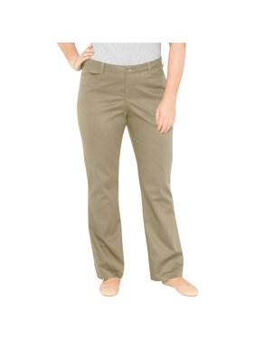 Genuine Dickies Women's Plus-Size Relaxed Boot Cut Pants