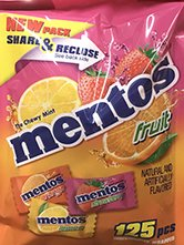 Mentos Share-A-Bowl Individually Wrapped Mints, 125 Pieces