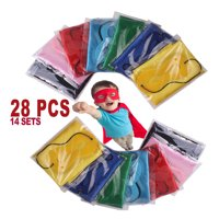 Create Your Own Superhero Costume (14 Sets) Child Superhero Capes and Masks