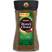 NESCAFE TASTER'S CHOICE Decaf House Blend Medium Light Roast Instant Coffee 7 oz. Jar