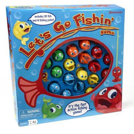 Fish Shaped Water Games (Pressman Toy Let's Go Fishin' Game)