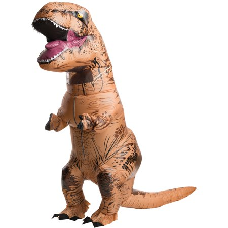 Jurassic World Adult Inflatable T Rex Costume One Size Walmart Com