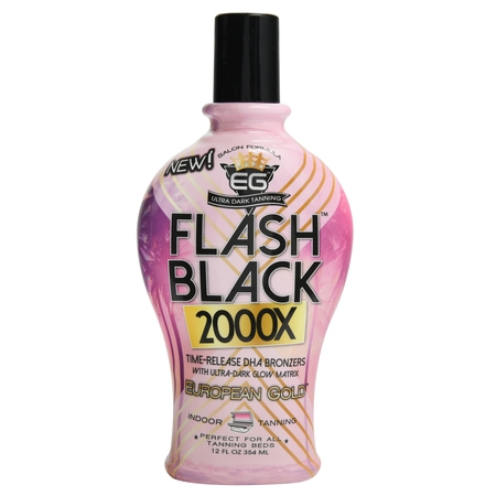 EG Flash Black 200X Ultra Dark Tanning Formula (Best Tanning Booth Lotion)
