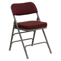 Flash Furniture HERCULES Series Premium Curved Triple Braced and Double Hinged Fabric Upholstered Metal Folding Chair, Multiple Colors