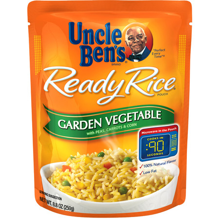 Variety Pack Uncle Bens Ready Rice: Garden Vegetable (2 Pack) & Roasted Chicken, 0.55lb (2 Pack) -