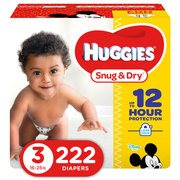 Huggies Snug & Dry Diapers (Choose Size and Count)