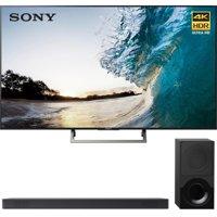 Sony 75-inch 4K HDR Ultra HD Smart LED TV 2017 Model (XBR-75X850E) with Sony 2.1ch Soundbar with Dolby Atmos