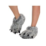 92045bc8fe7 SILVER LILLY NEW Bear Paw Plush Animal Halloween Costume Slippers