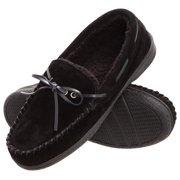 2ba424a50 Heat Edge Mens Memory Foam Suede Slip On Indoor Outdoor Moccasin Slipper  Shoe