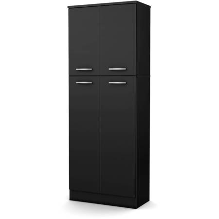 South Shore Smart Basics 4-Door Storage Pantry, Multiple Finishes