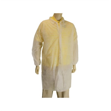 - Lab Coat with NO Pockets (Polypropylene) Lot of 1 Pack(s) of 1 Unit