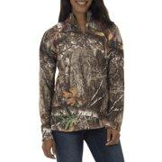Realtree & Mossy Oak Women's Fleece Performance Camo 1/4 Zip Jacket