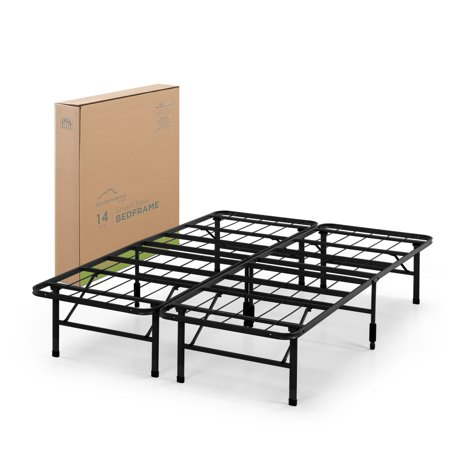 Spa Sensations by Zinus - Steel SmartBase Bed Frame Black, Multiple Sizes