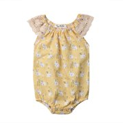 c708f288d 2019 My 1st Easter Newborn Baby Girls Sleeveless Lace Ruffle Rabbit Romper  Bodysuit Sunsuit Outfits Clothes