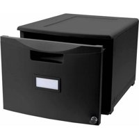 Storex Single Drawer Mini File Cabinet With Lock, Legal/Letter, Drop Ship Approved Packing