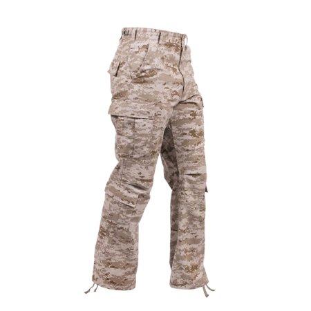 Vintage Camo Paratrooper Fatigue Pants, Desert Digital Camo Camo Vintage Fatigue Pants