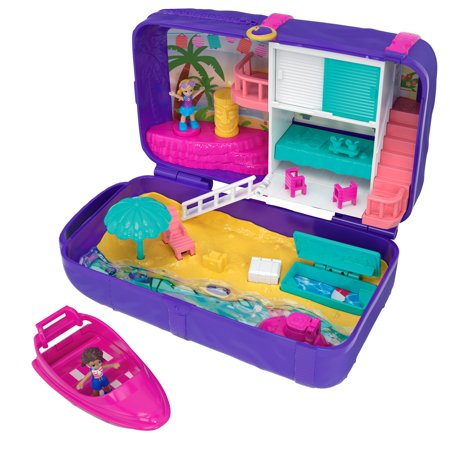 Polly Pocket Mini (Polly Pocket Hidden Places Beach Vibes Backpack with 2 Dolls )