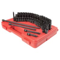 Sunex 80-Piece 3/8-Inch Drive Master Impact Socket Set