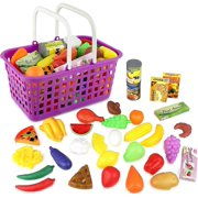 3389fc1e6 Click n  Play 33 Pc. Kids Pretend Play Grocery Shopping Play Toy Food Set