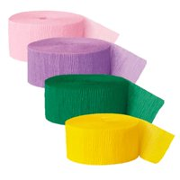 Pastel Crepe Paper Streamers, Assorted, 81ft, 4ct