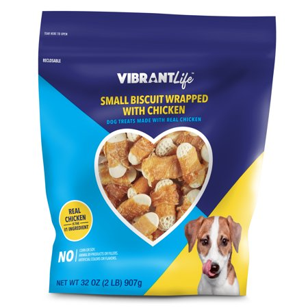 vibrant life small biscuit wrapped with chicken dog treats 32 oz. Black Bedroom Furniture Sets. Home Design Ideas