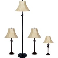 Better Homes & Gardens 4-Piece Lamp Set, Bronze Finish