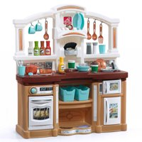 Step2 Fun with Friends Kids Play Kitchen with Toy Coffee Maker and Kitchen Accessory Set