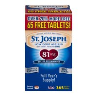 Joseph Low Dose Aspirin Coated Tablets, 81 mg, 365 count
