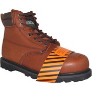 AMERICAN SHOE FACTORY Steel Toe Leather Work Boot, Men, Size, 6