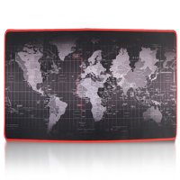 "TSV Extended Mouse Pad XXL World Map E-Sports Gaming Mouse Mat- 31.5""x11.8""x0.12"" Dimension Non-slip Rubber Base for Computer Laptop"