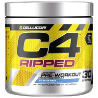 Cellucor C4 Ripped Pre Workout Powder, Icy Blue Razz, 30 Servings