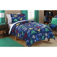 Mainstays Kids Dino Roam Coordinated Bed in a Bag, 1 Each