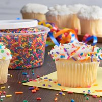 (2 Pack) Great Value Sprinkles, Rainbow, 10.5 oz